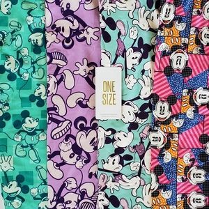 Mickey Mouse Disney One Size OS Leggings Lot NWT
